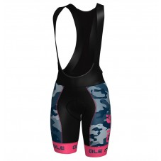 2017 Ale Graphics PRR Camo Women's Blue-Pink Cycling Bib Shorts
