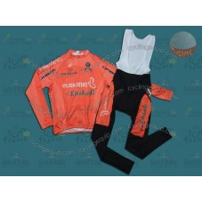 Euskaltel Euskadi Spain Thermal Cycling Long Sleeve Jersey And Bib Pants Set