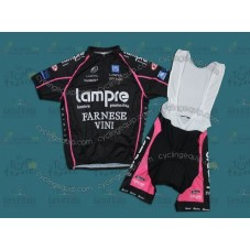 Lampre Black Cycling Jersey And Bib Shorts Set
