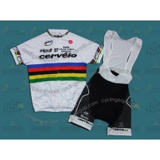 Cervelo World Champion Team Cycling Jersey And Bib Shorts Set