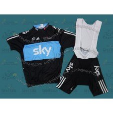 Sky 2011 Cycling Jersey And Bib Shorts Set