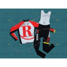 RadioShack 2011 Red Cycling Long Sleeve Jersey And Bib Pants Set