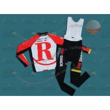 RadioShack 2011 Red Thermal Cycling Long Sleeve Jersey And Bib Pants Set