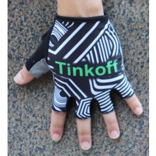 2016 Tinkoff Training Black/Green Cycling Gloves