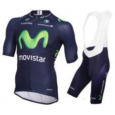 2015 Movistar Team Cycling Jersey And Bib Shorts Set