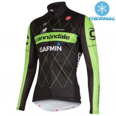 2015 Cannondale Garmin Black Thermal Cycling Long Sleeve Jersey