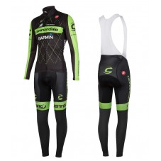 2015 Cannondale Garmin Black Cycling Long Sleeve Jersey And Bib Pants Set
