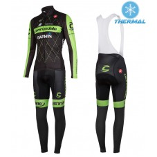 2015 Cannondale Garmin Black Thermal Long Cycling Long Sleeve Jersey And Bib Pants Set