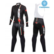 2015 Castelli Sidi Dino Black Thermal Long Cycling Long Sleeve Jersey And Bib Pants Set
