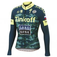 2015 Tinkoff Saxo Bank Camouflage Cycling Long Sleeve Jersey