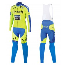 2015 Tinkoff Saxo Bank Cycling Long Sleeve Jersey And Bib Pants Set