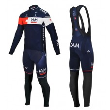 2015 Team IAM Cycling Long Sleeve Jersey And Bib Pants Set