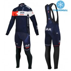 2015 Team IAM Thermal Long Cycling Long Sleeve Jersey And Bib Pants Set