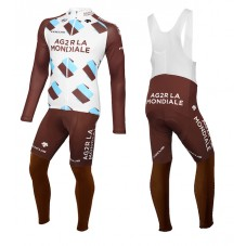 2015 Team Ag2r Cycling Long Sleeve Jersey And Bib Pants Set
