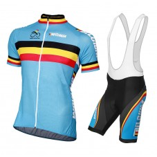 2015 Belguim National Team Cycling Jersey And Bib Shorts Set