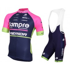 2015 Lampre Merida Cycling Jersey And Bib Shorts Set