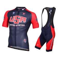 2015 United States National Team Cycling Jersey And Bib Shorts Set
