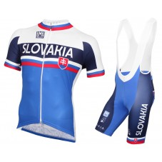 2015 Slovakia National Team Cycling Jersey And Bib Shorts Set