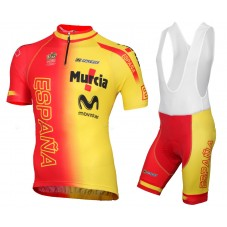 2015 Spanish National Team Cycling Jersey And Bib Shorts Set