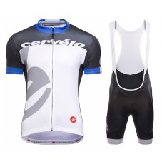 2015 Team Cervelo White-Blue Cycling Jersey And Bib Shorts Set