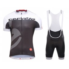 2015 Team Cervelo White-Black Cycling Jersey And Bib Shorts Set