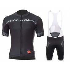 2015 Team Cervelo Black Cycling Jersey And Bib Shorts Set