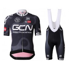 2016 Team GCN Black And Red Cycling Jersey And Bib Shorts Set