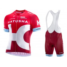 2016 Team Katusha Cycling Jersey And Bib Shorts Set