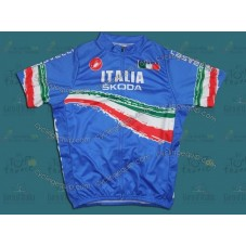 2011 Skoda Italy Champion Blue Cycling Jersey