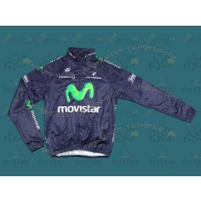 2013 Movistar Thermal Long Cycling Long Sleeve Jersey