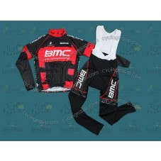 2012 BMC Continental Thermal Long Cycling Long Sleeve Jersey And Bib Pants Set