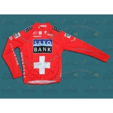 Saxo Bank Red Cycling Long Sleeve Jersey