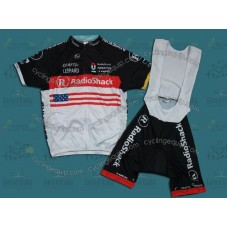 2012 RadioShack Nissan Trek USA Champion Cycling Jersey And Bib Shorts Set