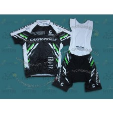 2014 Cannondale Black  Cycling Jersey And Bib Shorts Set