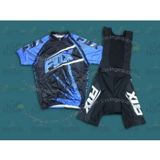 2014 Team Fox Blue Ice  Cycling Jersey And Bib Shorts Set
