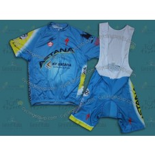 2014 Team Astana  Cycling Jersey And Bib Shorts Set