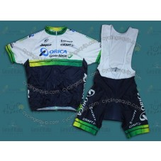 2014 Orica - Green EDGE  Cycling Jersey And Bib Shorts Set