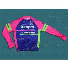 2014 Team Lampre - Merida  Cycling Long Sleeve Jersey