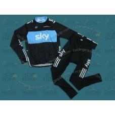 Sky Cycling Long Sleeve Jersey And Pants Set