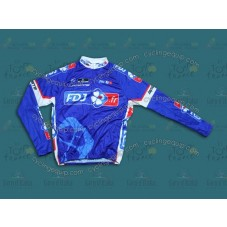 2014 Francaise des Jeux Blue  Cycling Long Sleeve Jersey