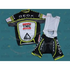 2012 Team TMC GEOX Black Cycling Jersey And Bib Shorts Set