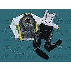LiveStrong 2010 Cycling Long Sleeve Jersey And Bib Pants Set