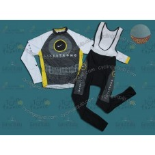 LiveStrong 2010 Thermal Cycling Long Sleeve Jersey And Bib Pants Set