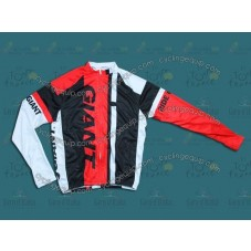 2014 Giant Black and Red  Cycling Long Sleeve Jersey