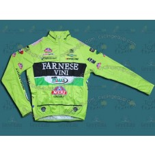 2012 Farnese Vini-Selle Italia Fluorescent Thermal Cycling Long Sleeve Jersey