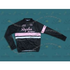 2014 Rapha Black And Pink  Cycling Long Sleeve Jersey