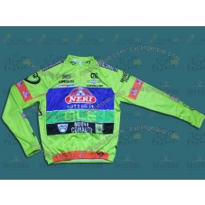 2014 Neri Sottoli- Yellow Fluo  Cycling Long Sleeve Jersey