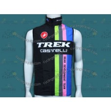 2014 Trek Castelli Black Rainbow Cycling Wind Vest
