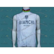 Bianchi Champion White Cycling Wind Vest
