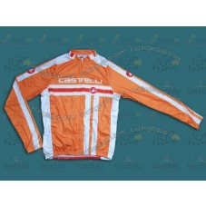 2014 Castelli Free Style Orange Cycling Long Sleeve Jersey